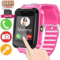 Kids Smart Watch Phone for Ages Girls Boys Toddlers with HD Touch Screen 2 Way Call Camera SOS Clock Game Flashlight Wristband Cellphone Watch Electronic Learning Toys Birthday Gifts Little Girl Toys, Cool Toys For Girls, Baby Girl Toys, Baby Dolls, Phone Watch For Kids, Clock Games, Best Kids Watches, Free Sims, Lol Dolls
