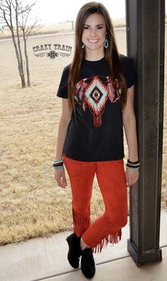 78c21f918d1 Fringe Pants, Fringe Shirt, Crazy Train Clothing, Country Fashion, T Shirts  For