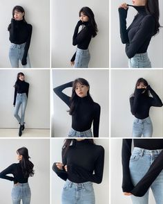 Korean Casual Outfits, Casual Dress Outfits, Fashion Poses, Teen Fashion Outfits, Ulzzang Fashion, Korean Fashion, Foto Glamour, Cute Poses For Pictures, Portrait Photography Poses