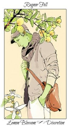 Ragnor Fell ~ The Mortal Instruments flower cards by Cassandra Jean