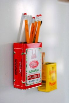 magnetic upcycled storage tins