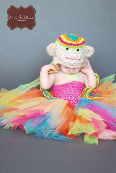 Rainbow Sock Monkey Costume by tribeccreations on Etsy   @Christina Manol