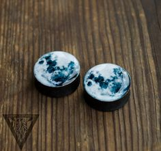 SALE Gauges Full moon image ear plugs 4,5,6,8,10,11,12,14,16,18,20,22,24,26,28-60mm;6,4,2g,0g,00g;1/4,5/16,3/8,1/2,9/16,5/8,3/4,7/8,1 1/4""