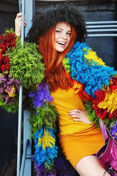 Jacket coat crochet lace designer tapestry wool por RuchkiKruchkI
