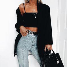 Fashion fall outfits casual street styles 50 Ideas for 2019 Look Fashion, 90s Fashion, Trendy Fashion, Fashion Outfits, Womens Fashion, Fashion Trends, Fashion Black, Dress Fashion, Fashion Vintage
