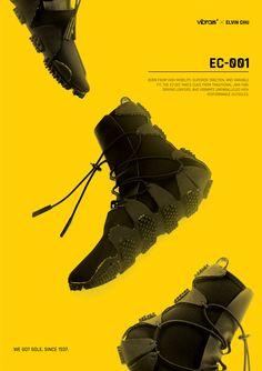 best service ebb02 5924f Vibram EC-001 on Behance Nike, Монохромная Мода, Обувь, Behance, Теннис
