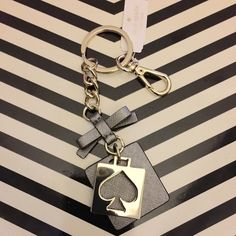 """Selling this Kate Spade """"Live Colorfully"""" Cutout Keychain in my Poshmark closet! My username is: elleashleyelle. #shopmycloset #poshmark #fashion #shopping #style #forsale #kate spade #Other"""