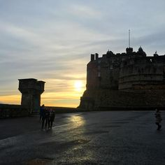 Sunset from what feels like the top of the world, Edinburgh Castle
