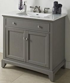 Fairmont Designs 1504-V36 Smithfield Medium Gray Bathroom Vanity 36 x 21-1/2 x 34-1/2 - Reviews, Specs, & Discounts