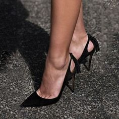 Shoespie Classy Black Pointed Toe Stiletto Heels