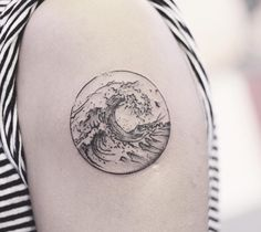 Resultado de imagen para circle tattoo with waves