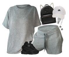 """""""Matte Babe"""" by oh-aurora ❤ liked on Polyvore featuring NYX, NIKE, Gucci, Rolex and Chanel"""