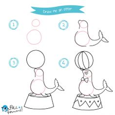 Draw me a Circus – Drawing Tutorial – Art Center Drawing Tutorials For Kids, Drawing For Kids, Art For Kids, How To Draw Steps, Learn To Draw, 3d Art Drawing, Drawing Pics, Drawing Board, Dinosaur Drawing