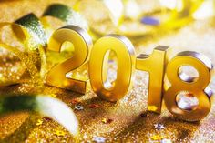 3D Gold Happy New Year 2018 Picture