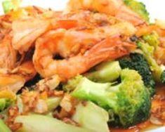 Crevettes sautées aux brocolis : http://www.cuisineaz.com/recettes/crevettes-sautees-aux-brocolis-16640.aspx