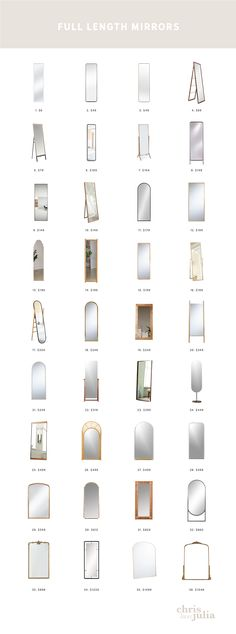 Full Length Mirrors Aren't Just For the Closet + A Roundup of Favorites! Long Mirror, Full Mirror, Long Length Mirror, Full Length Mirror Closet, Home Room Design, House Design, Master Closet Design, Closet Mirror, Dining Room Walls
