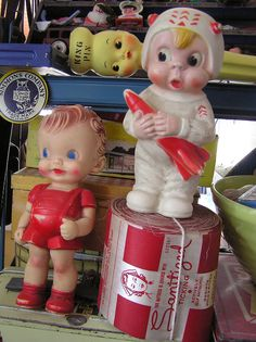 """""""Oh no she didn't!"""" Vintage porcelain dolls."""