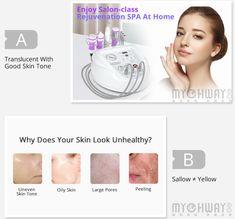 Miclrodermabrasion 5 IN 1 Portable Ultrasonic Facial Diamond Skin Scrubber Peeling Skin Care Anti Aging Machine Rejuvenation Spa, Dull Skin, Facial Care, Anti Aging Skin Care, Good Skin, Beauty Skin, Routine, Diamond, Diamonds