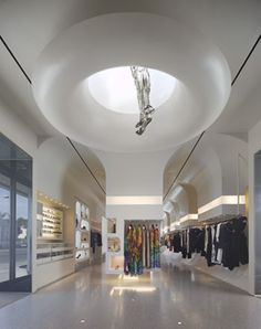 Alexander McQueen's Melrose Avenue store, a new-build designed by Pentagram Architect William Russell.