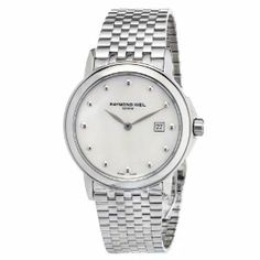 Raymond Weil Women's 5966-ST-97001 Stainless Steel Mother-Of-Pearl Dial Watch Raymond Weil. $427.50. Quartz movement. Stainless steel. Case diameter: 28 mm. Anti-reflective sapphire. Water-resistant to 50 M (165 feet). Save 55% Off!