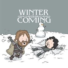 Winter is Coming /by See Mike Draw #nerdy #art #print $19