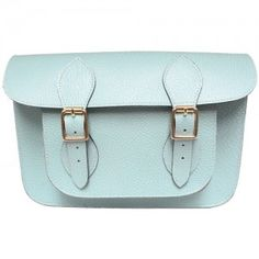 Gorgeous leather satchels in pastel shades perfect for Spring Marlborough Worlds Aqua 11 inch Leather Satchel l is handmade in our workshop in England Leather Hats, Leather Satchel, Pastel Shades, Aqua, Luxury, Satchels, Workshop, England, Bags