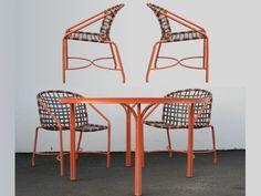 Vintage Brown Jordan Patio Set. Table With Four Chairs. USA, 1960u0027s. (
