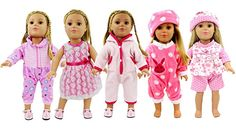 doll dress for 18 inch american girl lot of 5 assorted handmade lace ribbon 245