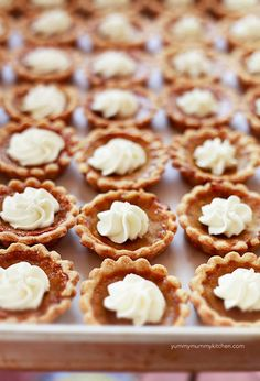 Yummy Mummy Kitchen: Mini Pumpkin Pie Recipe  Made these, loved them, used a muffin tin, they come out a little dark, but taste amazing, family loved them