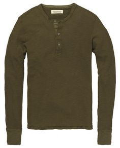 Army style Henley tee - Tees - Scotch & Soda Online Shop