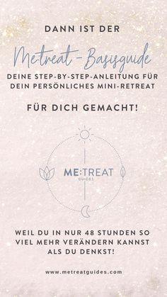 ME:treat-Guides – Step-by-Step-Anleitungen für dein persönliches Mini-Retreat für zuhause & unterwegs!  Der METREAT-Basisguide ist ab 17.11.2019 erhältlich!  #metreatguides #zeitfürmich #yogaretreats #miniretreat #retreatzuhause #diyretreat #retreatyourself #selfcare #yoga #meditation #selfcarerituale #yogaanleitung #veränderung #mindset Retreat, Blog, Mini, Lettering, Personalized Items, Yoga Meditation, Yoga At Home, Self Promotion, Yoga Teacher