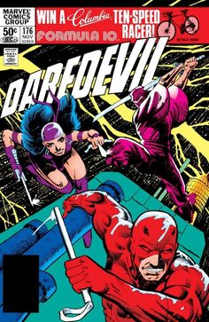 The cover to Daredevil #176 (1981), art by Frank Miller & Klaus Janson