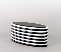 Ekaterina Elizarova | B & W Horizontal Stripes Low Table, RUS (2015), Available for Sale | Artsy