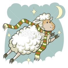 sheep cartoon zodiac sign Royalty Free Stock Vector Art Illustration