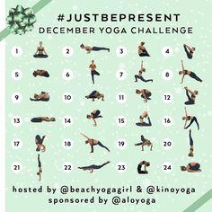 kinoyoga's December Yoga Challenge.