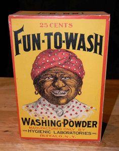 Black Americana - Fun to Wash Washing Powder - Vintage Box - Ruby Lane