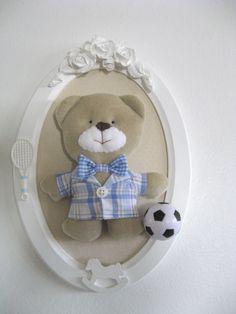 Quadro Oval Urso