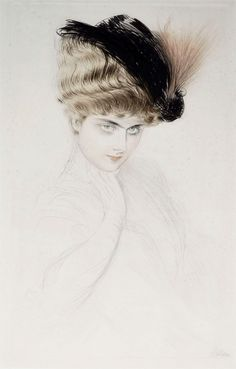 Madame Letellier · Paul Cesar Helleu. Etching with drypoint, c. 1905