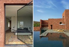 """""""Villa E is a incredible mountain lodge built on the foothills of the Atlas Mountains, Morocco."""""""