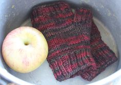 Red Wrist Warmers Wool Mittens Red Fingerless Gloves Hand