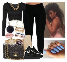 """✔️✔️✔️"" by saucinonyou999 ❤ liked on Polyvore featuring Topshop, Chanel, Rolex, Case-Mate, NIKE and RetroSuperFuture"