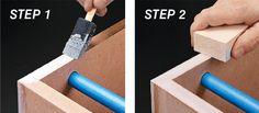 4-step instructions for sealing MDF edges