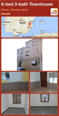 Townhouse for Sale in Pinoso, Alicante, Spain with 6 bedrooms, 3 bathrooms - A Spanish Life Murcia, Valencia, Alicante Spain, Townhouse, Lounge, Bathroom, Bed, Life, Airport Lounge