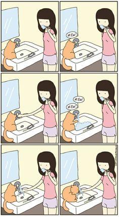 Cat Versus Human: convivendo com gatos / Crazy Cat Lady, Crazy Cats, Cat Vs Human, Catsu The Cat, Nanu Nana, Gatos Cats, Cat Comics, Funny Illustration, All About Cats