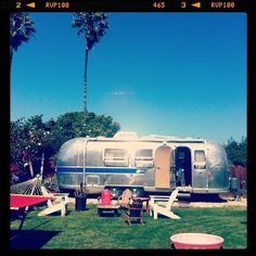 here is my airstream in my backyard.    http://www.jayreilly.com  jay reilly  airstream, vintage, fun, camping!