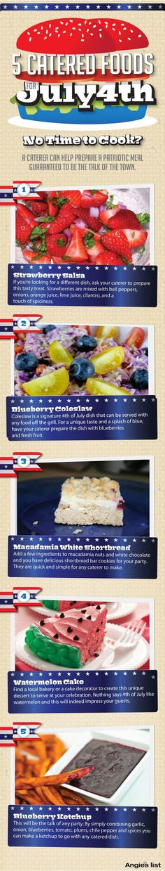 5 Catered Foods for Your 4th of July Party | Angies List, Angie's List