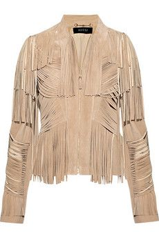 Gucci  Fringed suede jacket