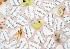 250 Winnie The Pooh Heart Book Confetti  by PaperHeartCreation
