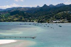 Image detail for -New Zealand, North Island, Coromandel, Tairua Harbour, view from Paku Summit.