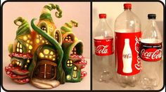 Here' s the link to the tutorial >> DIY Enchanted Fairy House Lamp Using Coke Plastic Bottles <…